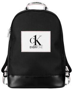 NEW CALVIN KLEIN CK Everyone Black Backpack / Rucksack / College / Gym Bag