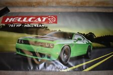 Dodge Hellcat 707HP FACTORY NOS new (not reproduction) auto dealer banner RARE