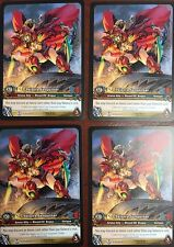 WORLD OF WARCRAFT WOW TCG EPIC EXTENDED ART : VALEERA SANGUINAR EA X 4