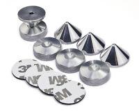 Precisiongeek ALUMINIUM 4 x Speaker Spikes + 4 x Spikes Pads + 3M adhesive pads