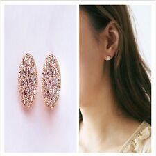 Women Lady Elegant Circle Crystal Rhinestone Ear Stud Earrings Fashion Jewelry