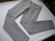 CLEMENTS RIBEIRO SIZE ITALY 42 UK 10 BLUE/WHITE CHECK LINED TROUSERS VGC