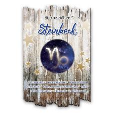 Wandbild Sternzeichen Steinbock Shabby aus Holz mit Spruch und Motiv Wand-Deko