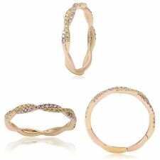 14K Yellow and Rose Gold Ring Band Yellow and Pink Diamond .27 tcw  Size 6.5