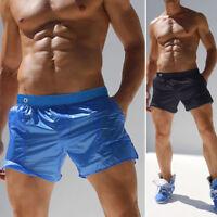 Mens Sheer Mesh Boxer Briefs Transparent Swim Trunks Underwear Shorts Underpants