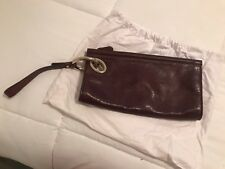 Diane von Furstenberg - DVF - Women's Burgundy Leather Clutch - Wristlet - Purse