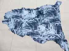Lambskin leather skin hide skins Light & Dark Denim Patch Print drapey soft