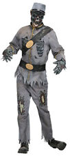 Adult Confederate Grey Zombie Mens Halloween Costume American US Zombie Outfit