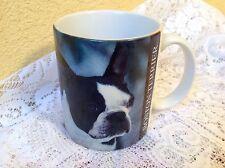 BOSTON TERRIER CERAMIC COFFEE MUG 12 OZ DOG PHOTO & HISTORY 1994 XPRES