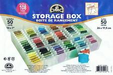 DMC STORAGE / THREAD ORGANISER BOX, Including 50x Card Floss Bobbins (6118)