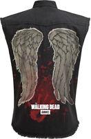 Official Walking Dead DARYL Wings Denim Vest Stone Washed/Worker/Wings/Zombie