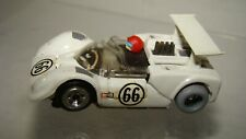 Ho Tyco Pro Chaparral #66 white w/wing w/running chassis