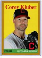 Corey Kluber 2019 Topps Archives 5x7 Gold #19 /10 Indians