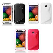 Case For Motorola Moto E S-Line Silicone Gel Skin Tough Shockproof Phone Cover