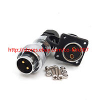 WS20 2Pin Waterproof Connector, High Voltage Aviation Power Cable Connector Plug