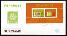 Suriname - 1994 Stamp exhibition Fepapost -  Mi. Bl. 63 clean FDC