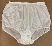 Vintage Carole Women Nylon Granny Panties Sheer Briefs Ivory USA NWOT Size 10