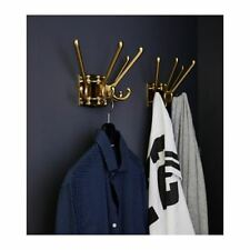 IKEA KÄMPIG 4-armed swivel hook Brass-colour  KAMPIG hang up 303.471.32 UK-C786