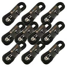 10 x 10m Câble Micro XLR mâle à femelle / Équilibré / Câble patch micro / Noir