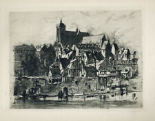 'LE MANS.' AN ORIGINAL ETCHING BY HORATIO J  LUCAS (1839-1873)
