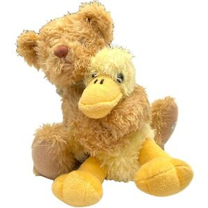 Settler Bears Beige Teddy Bear With Yellow Duck Plush Toy Stitched Paw 16cm