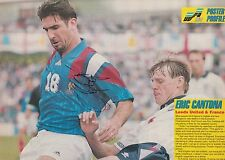 ERIC CANTONA HAND SIGNED FRANCE MAGAZINE PHOTO.