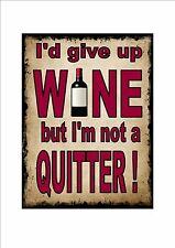 drôle citations Vin rouge fantaisie porte en métal PANNEAU MURAL CUISINE SIGNE