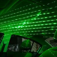 Mini Green USB LED Car Interior Roof Star Night Light Atmosphere Lamp Projector