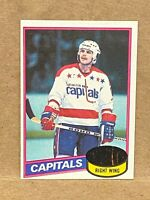 1980-81 Topps Mike Gartner #195 Rookie Card RC Capitals unscratched