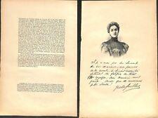 Portrait Yvette Guilbert Café Concert Chanteuse Henri de Toulouse Lautrec 1897