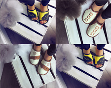 Women's Leather Slippers Shoes, Hand Made, Size 3 4 5 6 7 8 Thick sole (BOX 1-3)