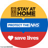 STAY HOME PROTECT THE NHS SAVE LIVES BADGE