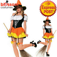 CA599 Leg Avenue Kandy Korn Witch Horror Ladies Halloween Fancy Dress Up Costume