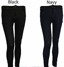 Jeggings - Black & Navy - New - Front & Back Pockets, Zip & Button Fastening