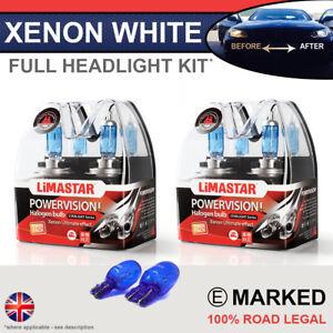 Fiat 500 07-on Xenon White Upgrade Kit Headlight Dipped High Side Bulbs 6000k