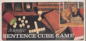 Scrabble Sentence Cubes Word Game Selchow & Righter 1971 Complete