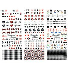 1 Planche Water Decals Stickers Décorations Ongles Nail Art Manucure Autocollant
