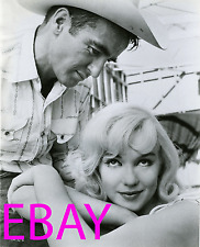 """MARILYN MONROE & MONTGOMERY CLIFT 8X10 Lab Photo 1961 """"THE MISFITS"""" Final Film"""