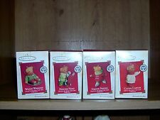LOT OF 4-HALLMARK KEEPSAKE ORNAMENTS-2ND-5TH-SNOW CUB CLUB 100TH ANN. COLLECT.
