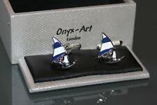 Novelty Mens Cufflinks -  Windsurfer Windsurfing Design