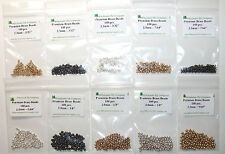 1000 piece Brass Fly Tying Beads - Gold Black Silver - Assortment A