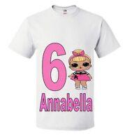 splash queen  lol doll Birthday T-shirt-Personalised lol doll birthday