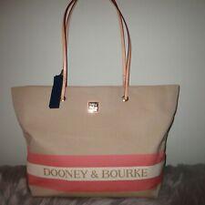 Dooney & Bourke Addison Large Canvas Logo XXL Tote Beige/apricot