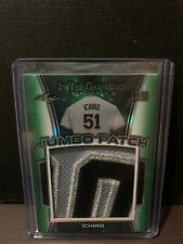 New listing 2018 LEAF IN THE GAME SPORTS ICHIRO 3 COLOR JUMBO LETTER PATCH # 1/2 MARINERS