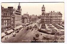 Princes St. From Scott Monument Looking East- Edinburgh Scotland-Postcard