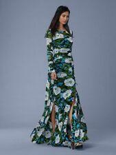 NWT Diane von Furstenberg 2-Piece Floral-Print Mesh Dress Boswell Ivory 6 $598