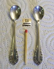 Georg Jensen 925 Sterling Silver - Lilly of the valley - 2x Master salt spoon