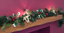 1.8m Christmas Red Berry Holly Mantelpiece Garland Decoration