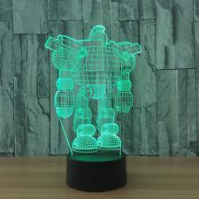 3D acrylic robot optical 7 colors night light change LED lamp kids room lights