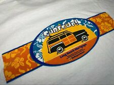 Vintage 90s Surfs Up Long Beach Mortgage Tropical Surfing T Shirt | EUC | Sz XL